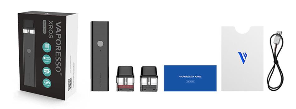 محتویات داخل جعبه Vaporesso Xros